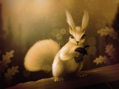 Squirrel nature procreate illustration procreate brushes procreate art procreate illustration digitalpaiting digitalart squirrel