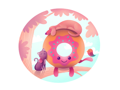 Donut donut logo icon illustration