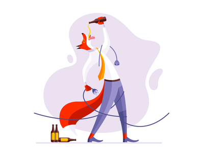 Fox 5 fox vector icon illustration