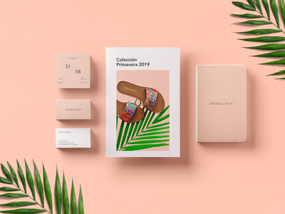 Anghela Rave Identy fashion brand leather branding design concept branding clean design boutique graphic design brand minimal business card floral moda stationery identity art direction shoes
