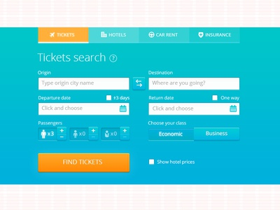 Tickets search form #2