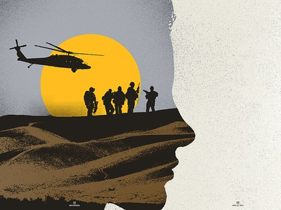 Editorial Illustration // Zero Dark Thirty