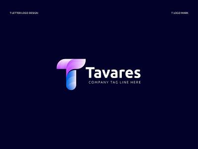Tavares Logo Design - T Logo Concept logo mark logo2020 logo designer company branding business t letter logo t letter letter logo lettermark minimal brand identity logotype colorfull branding illustration typography logo concept logo design