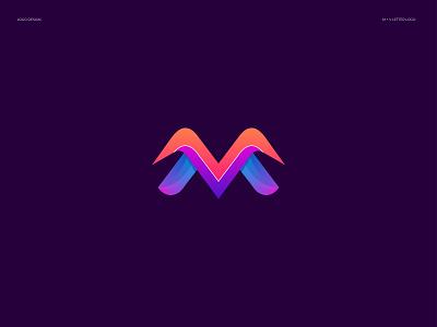 M+V Logo Design logos agency modern logo m logo m letter mv letter mv logo graphic design design concept brand identity branding logo logo design illustration branding design logotype ui trends 2021