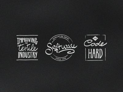 Script Typo Badges