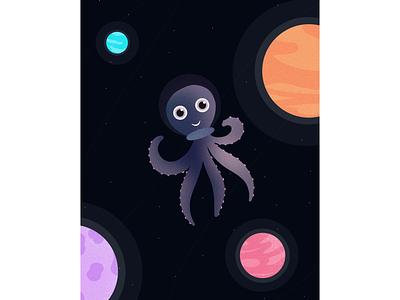 OCTOPUS pixel nosie procreate artwork artistic artwork art drawing procreate app procreateapp procreate planets space octopus