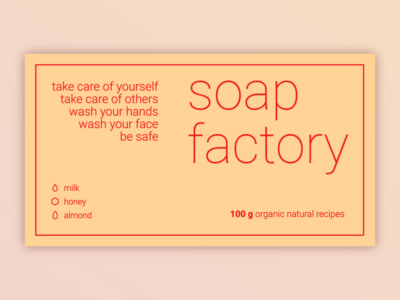 SOAP LABEL WEEKLY WARM UP