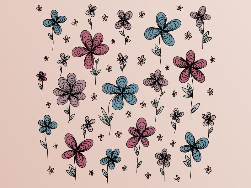 GARDEN | WEEKLY WARM-UP flowery spring warm up botanical flowers garden art digital design illustration graphic digitalgraphic graphicdesign artwork affinity challange weekly challenge dribbble weekly warm-up weeklywarmup