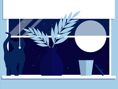 MOON poster graphic design illustration design illustration art affinity designer illustration illustrator art digital design artwork digitalgraphic graphic graphicdesign home window light night moon cat