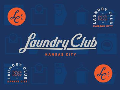 Laundry Club KC Brand logotype logo lettering vector illustration design icon brand identity brand design branding customlettering customtype typography