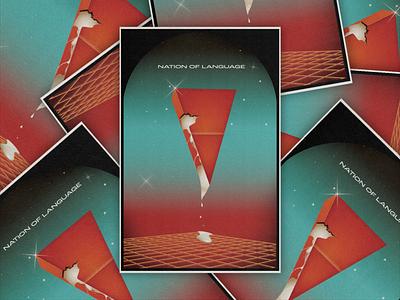 Psychedelic Explorations Part III (Nation of Language Poster) poster design poster art poster illustration design