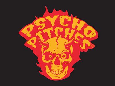 DMH Psycho Pitches branding typography vector logo design illustration