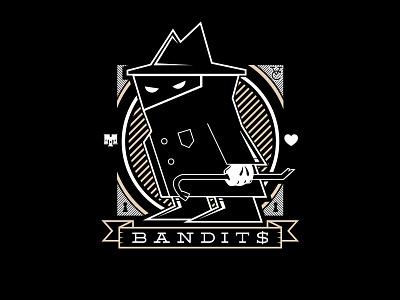 Neighborhood Watch crowbar bandit vector illustration logo icon flat