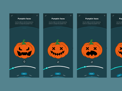 Pumpkin Carving Randomizer_xddailychallenge halloween pumpkin randomizer app xd design xdcreativechallenge ui productdesign interactiondesign design xd xddailychallenge visual design ux design