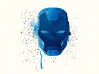 Iron Man Splatter Design