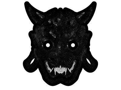 Hannya Mask Dark company branding ai vector illustration logo a day logo vector art design branding art