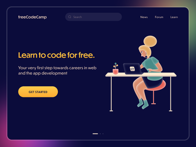 freeCodeCamp Redesign code web design landing page typography redesign ab test logo graphic design illustration ui freecodecamp