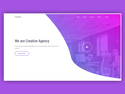 Cleathin - Agency Landing Page