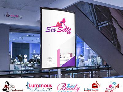 Sex Sells Erotic Logo website branding illustration design vector logo