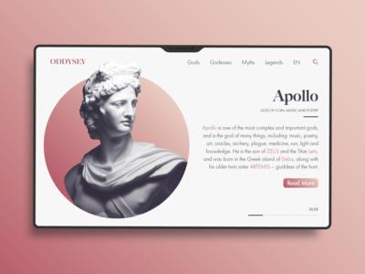 Greek Mythology Wiki Web Concept