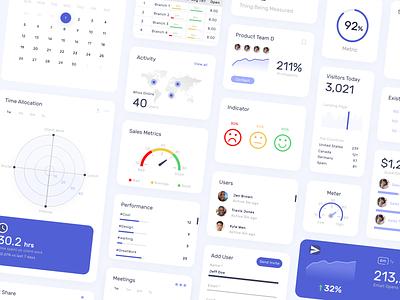 Dashboard Design - Components data productivity operations graphs data viz bar chart stats kpi data visualization dashboard