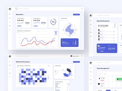 Dashboard Design - Component Layouts kpi ui illustration stats operations graphs data visualization dashboard