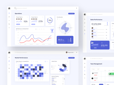 Dashboard Design - Component Layouts