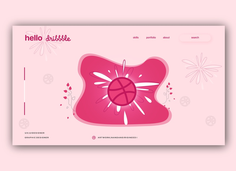 Hello Dribbble World! welcome shot dribbble invitation firstshot artwork vectorart illustration uidesign