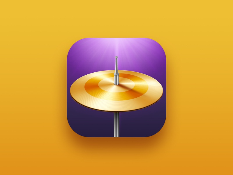 Drum plate icon song plate drummer instrument drums design illustration app store music icon design app design icon app