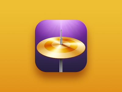 Drum plate icon song plate drummer instrument drums design illustration app store music icon design app design icon app