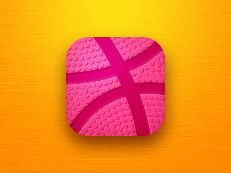 Hello dribbble neomorphism sport basketball logo icon design app icon hello dribble