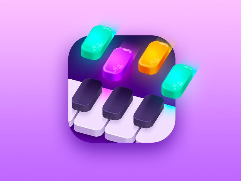 Piano game tiles music game game piano app store music illustration icon design icon app