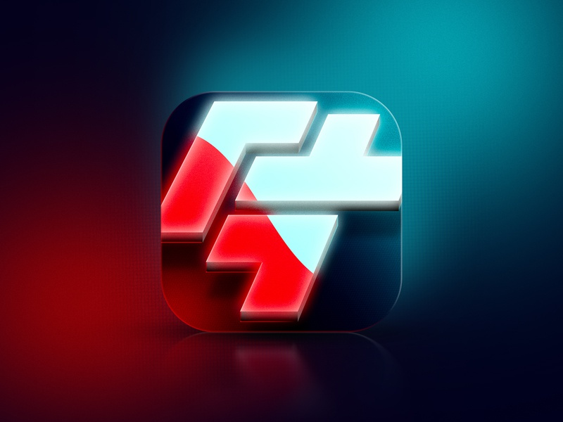 Puzzle game icon neon retrowave retro hieroglyph china puzzle puzzles design game app store icon design icon app