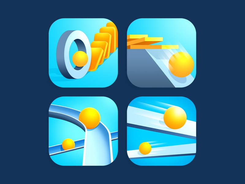 Icons for mini games balls domino yellow illustration design game app store icon design icon app