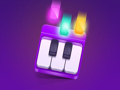 Piano game music piano design game illustration app store icon design icon app