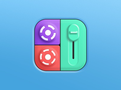 Drum machine icon beatmaker beat dj pad drum drummer drums design music app store icon design icon app