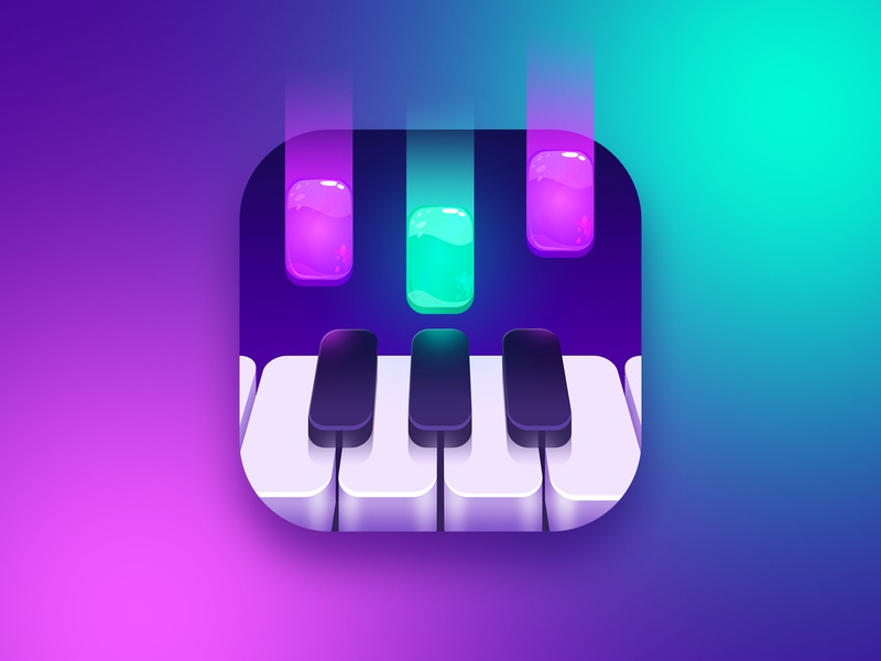 Piano game icon music app music instrument candy piano game music icon design app icon
