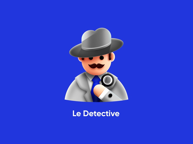 Mr. Detective mister detective illustration character icon app game