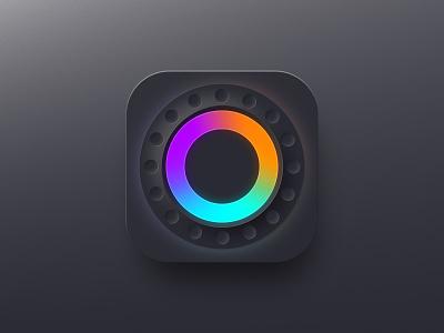 Jog Icon for DJ app neomorphism colors circle jog dj music game app store icon design icon app