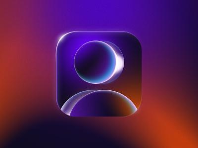 Avatar Icon glass gradient avatar mobile app store illustration icon design icon app
