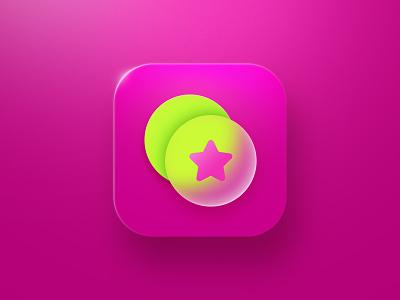 Filter Icon glass modile blur star filter ui logo app store illustration icon design icon app