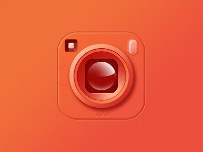 Camera Icon mobile insta neomorphism lens camera app store illustration icon design icon app