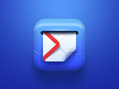 MailBox Icon skeuomorphism skev letter mailbox mail app store illustration icon design icon app
