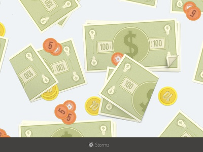Bling Bling B-) bucks flat stormz web-app coins illustration icons
