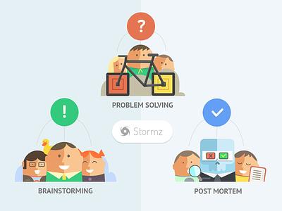 Stormz – Workshop illustrations illustration icons flat stormz web-app workshop brainstorming