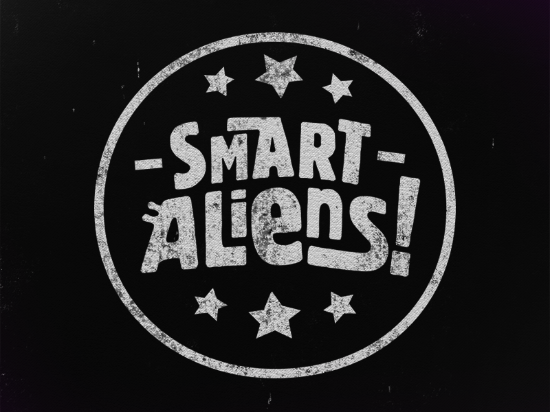 Smart aliens stamp