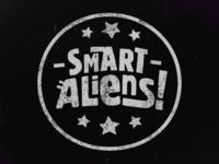 Smart Aliens - Stamp Logo