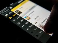 TVShow Time redesign - menu
