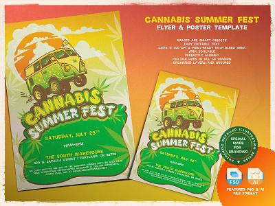 Cannabis Summer Fest poster design poster event branding event flyer flyer template flyer artwork flyer design flyers flyer festival fest fair event conference weed cannabis fair cannabis event cannabis design cannabis branding cannabis