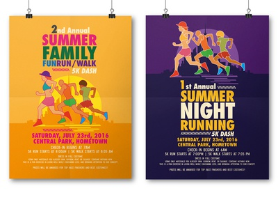 Summer Running Flyer Templates By Tiar Prayoga Dribbble